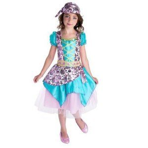 Girls Gypsy Fortune Teller Costume Large 10/12 NWT
